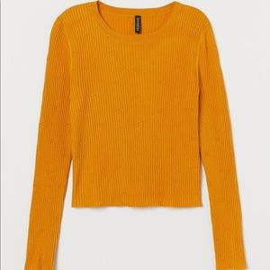 H&M Ribbed Long Sleeve top